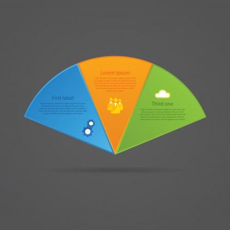 Infographics elements for presentation, website or poster. Illustration
