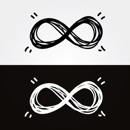 simbolo infinito: disegnare a mano infinity Vettoriali