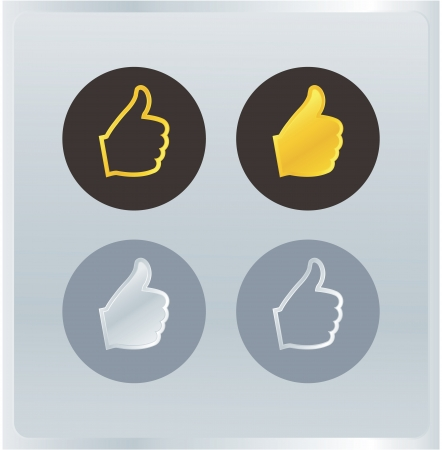 valuation: Vector shilouette hands. Original rating for your website. Luxury colors. Hand gesture valuation icons. Five levels.