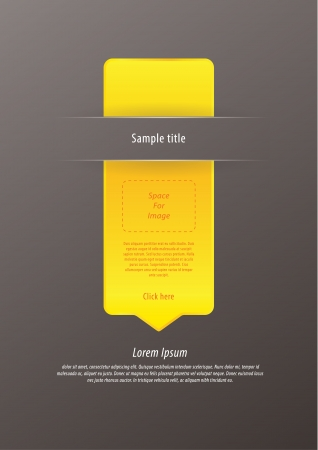 costumer: Vector modern infographic arrow. Luxury feel. Sizable, editable friendly. Space for images and information or icons. Minimalistic website element.