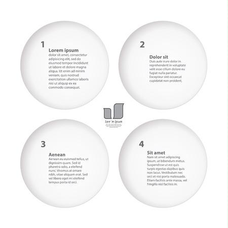 slit: Creativo plantilla - Cuatro opciones. Plantilla cuadrada fresca, con cuatro c�rculos de hendidura. Mucho espacio para el texto, iconos o im�genes.