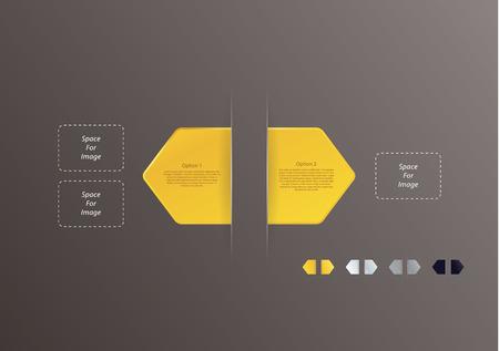 fl�che double: double fl�che avec quatre couleurs diff�rentes paquet