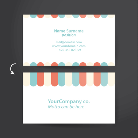 discreto: template for funky business card. Colorfully, but discreet personal card.