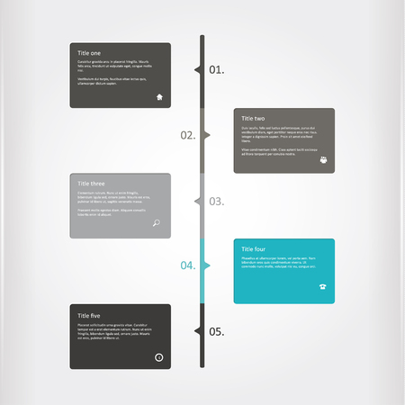colorfully: Matt timeline profile. Colorfully layout with place for your text. Sizable and editable graphic.