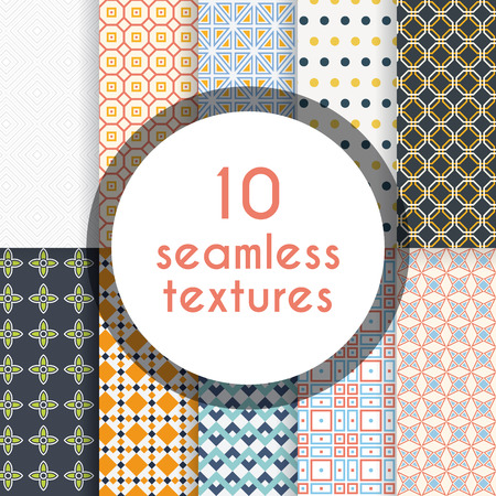 able: Pack of decorative patterns. Ten completely editable and tile able patterns for your design.