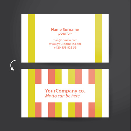 discreto: Modelo del vector para la tarjeta de visita enrrollada. tarjeta personal colorido, pero discreto. Fácil de ajustar.