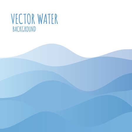 Vector abstract landscape. Decorative square banner with place for your content.