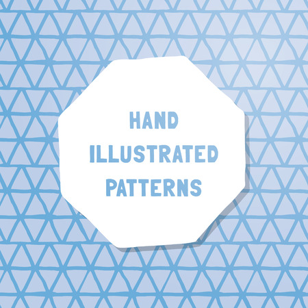 heptagon: Vector hand-illustrated seamless texture. Tile of endless patterns, draw by hand. Ready for website or print.
