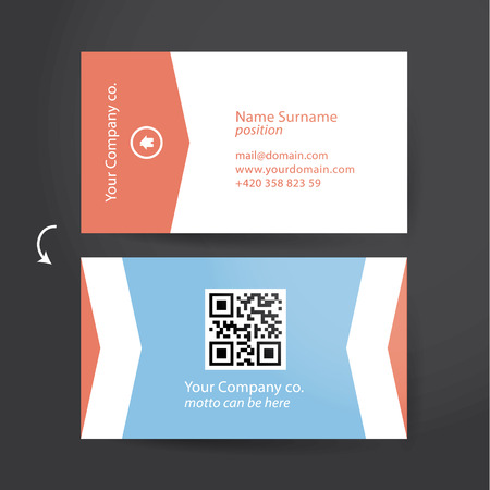 minimalistic: Template for solid business card. Minimalistic flat design for personal card. Easy to adjust.