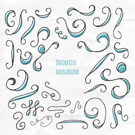 cranky: Vector hand drawn doodles. Scribble elements, dividers etc..