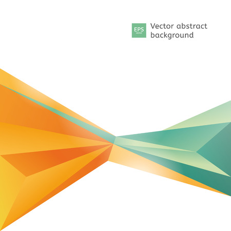 Vector abstract polygon background. Blank template with place for your text.