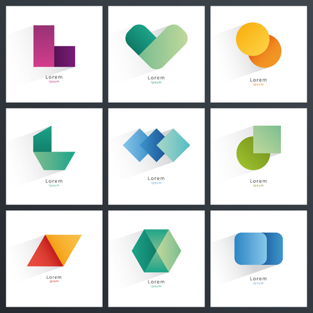 colection: Colection of abstract blank symbols. Simple geometric shapes.