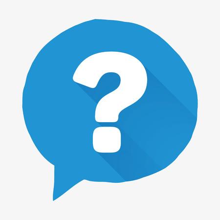 point d interrogation: Vector question de symbole de la marque. Design plat bouton d'aide. Handcrafted symbole FAQ