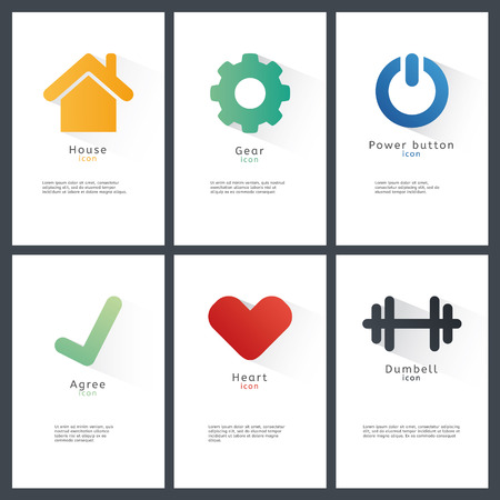 Collection of vector blank shapes. Abstract badges.