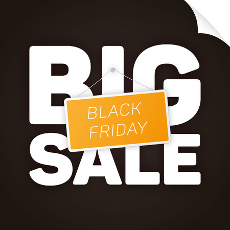 orange sign: Black Friday big sale with orange sign. Solid design template with place for your text. graphic.