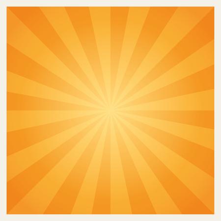 centered: Hot summer sun burst background. Geometrica yellow orangel centered background. graphic.