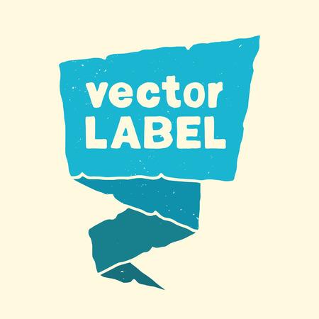 made to order: Handmade vector template. Retro pointer, mark, sticker.