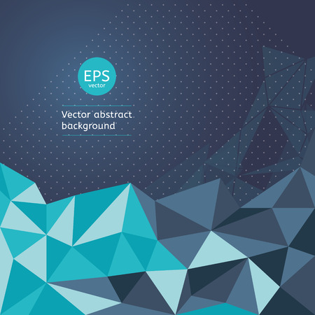 Abstract triangular vector background.