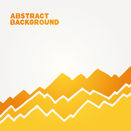 Abstract vector background. Orange handmade toothed background with white splace around.