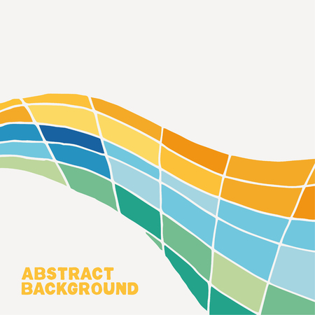 Colorfully twisted vector background. Abstract shape with white-space all around.