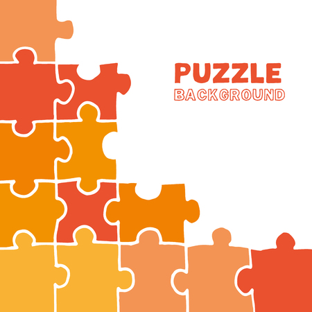 Handmade vector puzzle background with palce for your text.