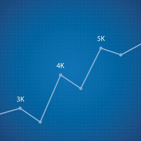 estimation: Vector statistics on dark blueprint background.