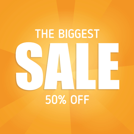 cheaper: Big sale illustration! Modern template with place for your text.
