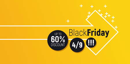 Flashy sale banner. Arrow motif with lot of space around. Perfect for seasonal discounts, balck friday sales and else.