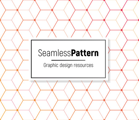 Geometrical seamless pattern on white background. . Vector graphic design element. Illustration