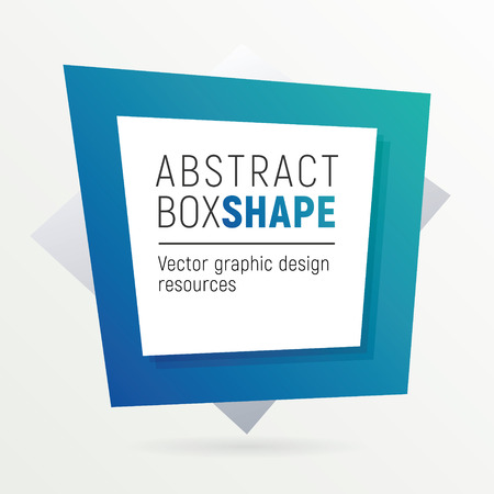 Square polygon banner. Flashy box shaped frame with a lot of space for your text.
