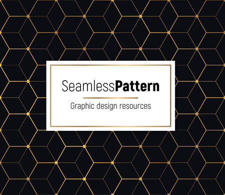 Geometrical golden seamless pattern. Minimal pattern design combined with flashy gold gradient.