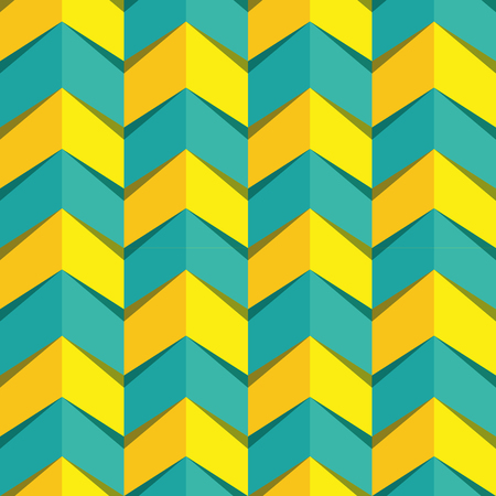 Bright color seamless pattern. Simple cheveron pattern in blue nad bright yellow. Communicate power and growth. Ilustração