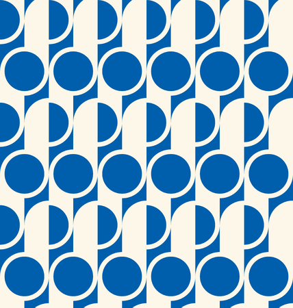 Seamless pattern in art deco design. Simple blue and white decorative texture.