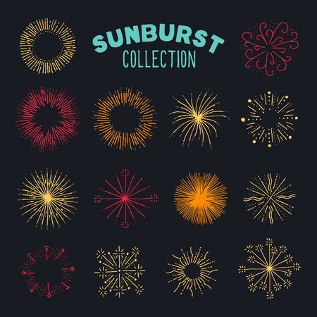 Collection of carefully designed rounded explosions. Even more explosions / or sun bursts in this handy collection. Perfect for badges or new years greeting cards.