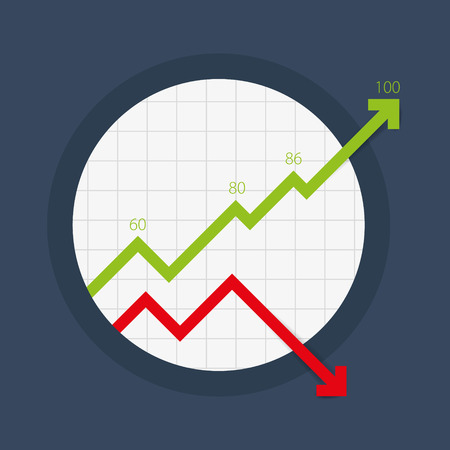 Vector circular design graphs. Illustrated charts for any statistics. Business graphic elements.