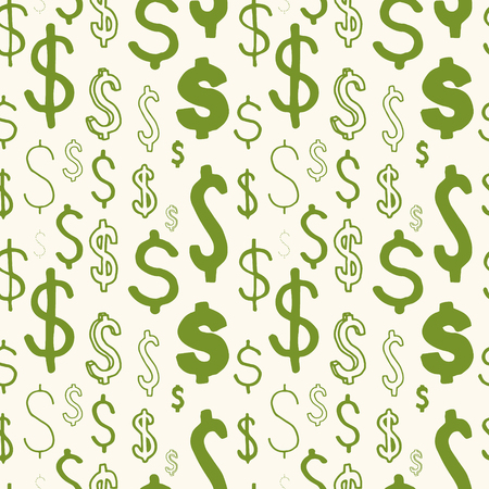American dollar seamless pattern. Business vector ilustration. Repeatable never ending texture.
