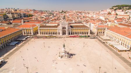 Commerce Square Praca de comercio Lisbon Portugal Editorial