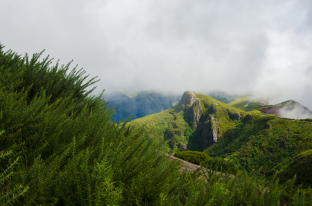 clouds over the beautiful hills of Madeira