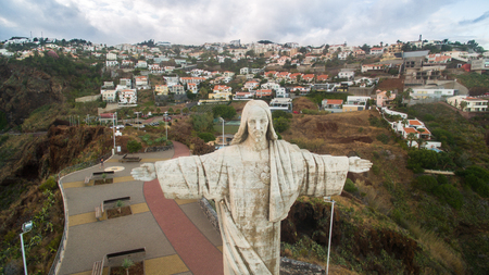 crist: The Christ the King statue is a Catholic monument on Madeira island, Portugal