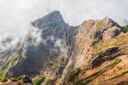 Portugal, Madeira, View of the mountains near Pico de Arieiro Stock Photo