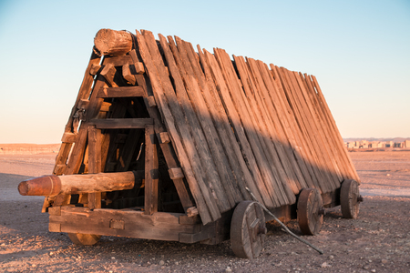 Reconstruction of a medieval battering ram
