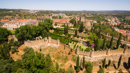 convento: Aerial view of monastery Convent of Christ in Tomar, Portugal Stock Photo