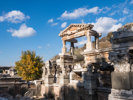 Historical ruins in the city in Ephesus, Turkey Stock Photo