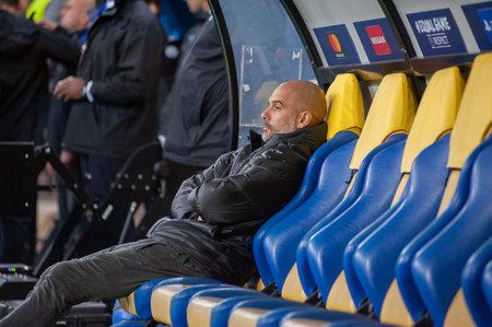 Kharkiv, Ukraine - September 18, 2019: Emotional portrait Raheem Sterling in the UEFA Champions League game against Shakhtar Donetsk at OSK Metalist stadium.