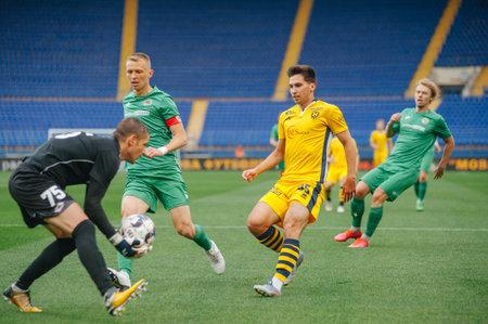 KHARKIV, UKRAINE - JULY 14, 2020: Football match of PFL Metallist-1925 - Avangard