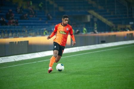 Kharkiv, Ukraine - March 4, 2020: Tete, midfielder of Shakhtar Donetsk in action during the match UPL Shakhtar - Dnipro-1