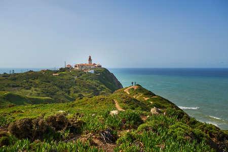 Lighthouse on Cabo da Roca Banque d'images