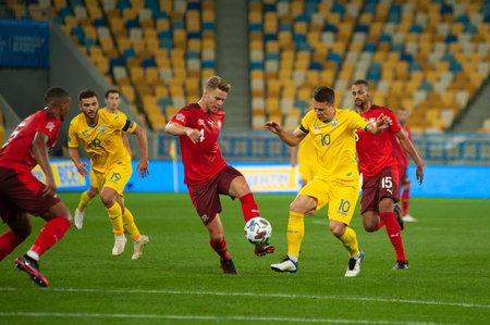 Lviv, Ukraine - September 03, 2020: Nico Elvedi during the football match of UEFA League Nations Ukraine vs Switzerland