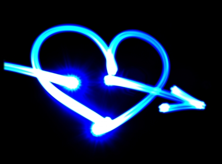 The blue heart of the luminous flux