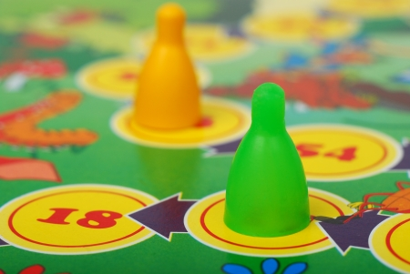 board game: Game, chips, background Stock Photo